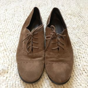 Leather loafer oxfords